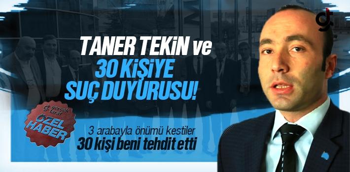 MHP Samsun İl Başkanı Taner Tekin ve 30 Kişiye...