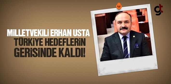 Milletvekili Erhan Usta, Türkiye Hedeflerin Gerisinde...