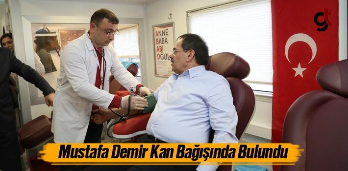 Mustafa Demir Kan Bağışında Bulundu