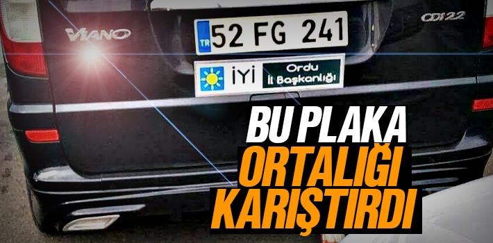 Ordu İyi Parti İl Başkanı Tevfik Karabulut'un FG Plakası