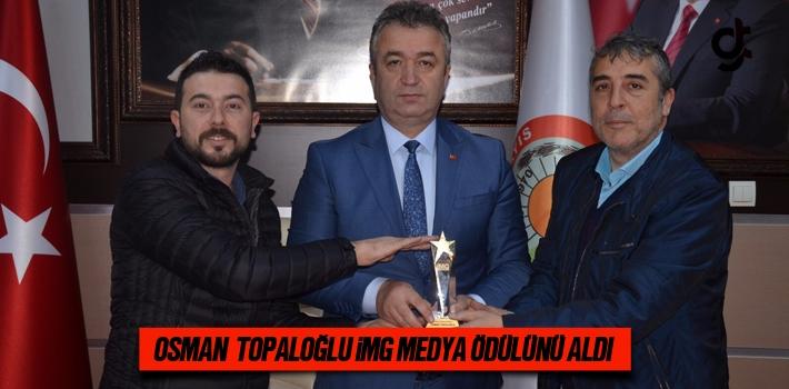 Osman Topaloğlu İmg Medya Ödülünü Aldı