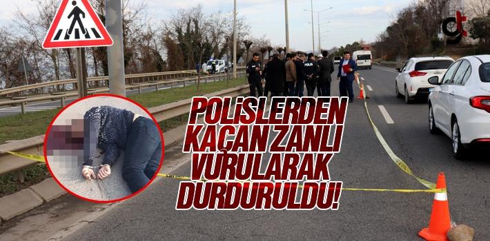 Polisin Elinden Kaçan Zanlı Vurularak Durduruldu