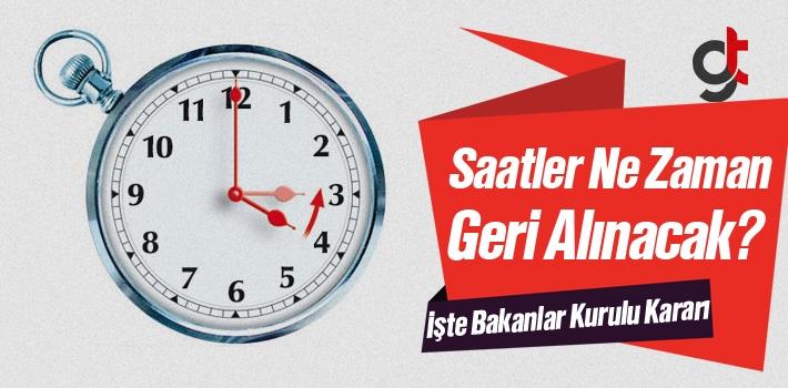 Saatler Ne Zaman Geri Alınacak 2016 – 2017
