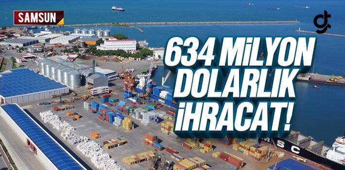 Samsun 2018 Yılında 145 Ülkeye 634 Milyon Dolarlık...