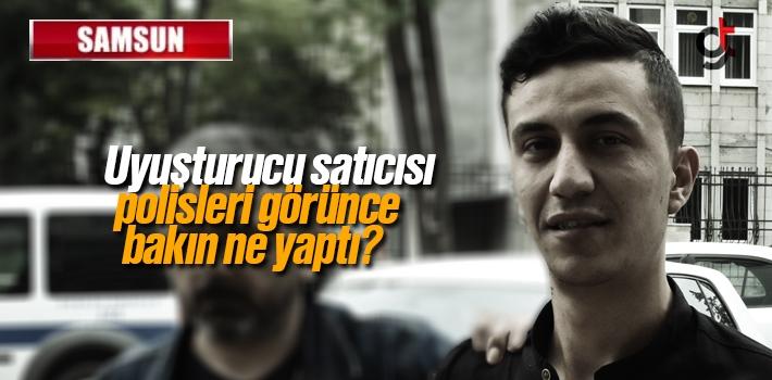 Samsun Canik'te Yakalanan Uyuşturucu Satıcısı...