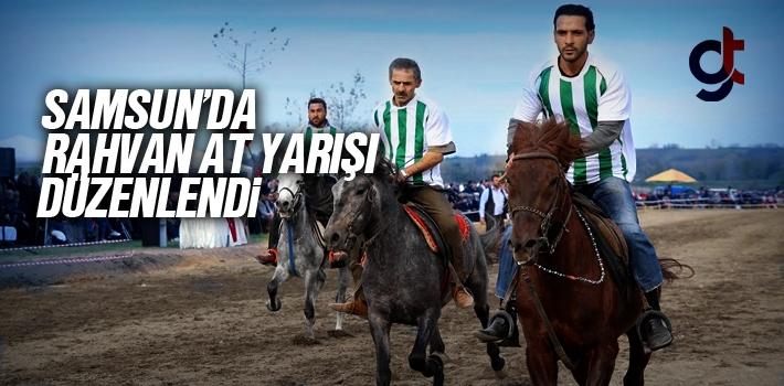 Samsun Çarşamba'da Rahvan At Yarışları Düzenlendi