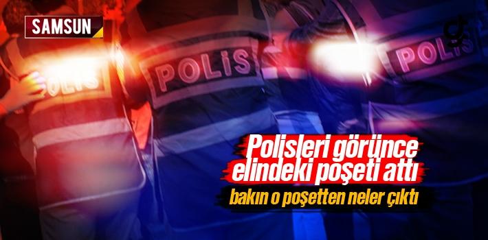 Samsun Haber: Polisleri Görünce Panik Yaparak Elindeki...