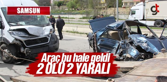 Samsun Havza'da Trafik Kazası 2 Ölü 2 Yaralı