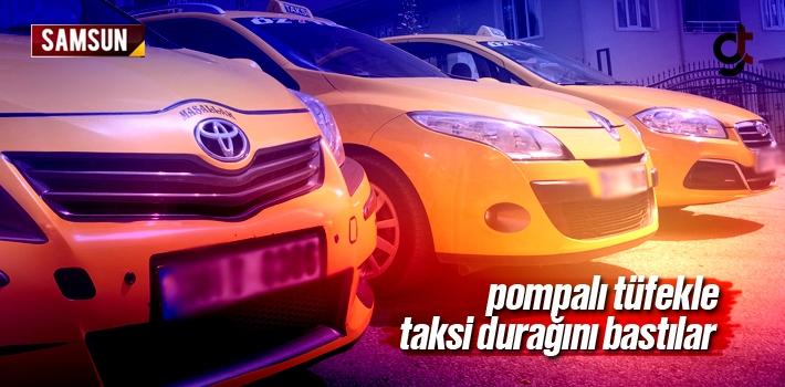 Samsun İlyasköy'de Pompalı Tüfekle Taksi Durağı...