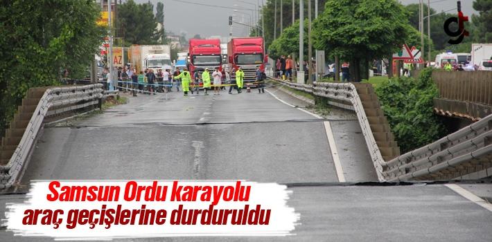 Samsun Ordu Karayolu Araç Geçişlerine Durduruldu!