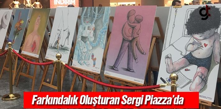 Samsun Piazza'da Organ Bağışı Karikatür Sergisi...