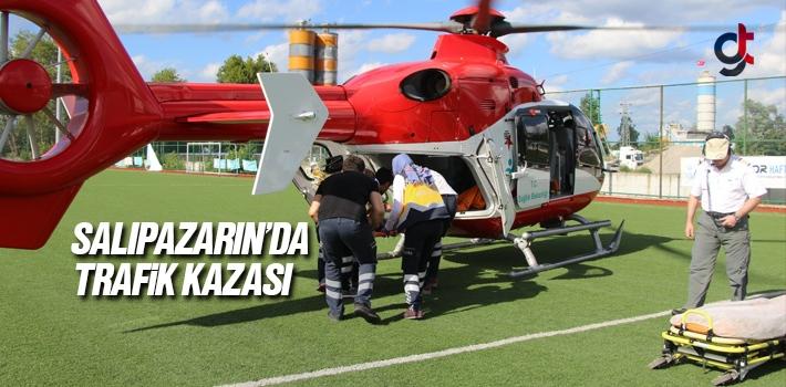 Samsun Salıpazarı Yavaşbey'de Trafik Kazası