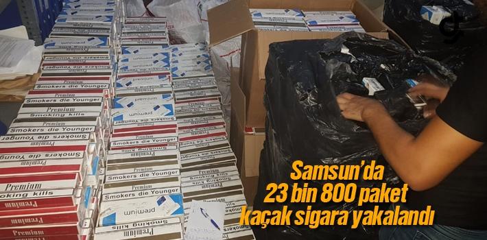 Samsun'da 23 Bin 800 Paket Gümrük Kaçağı Sigara...