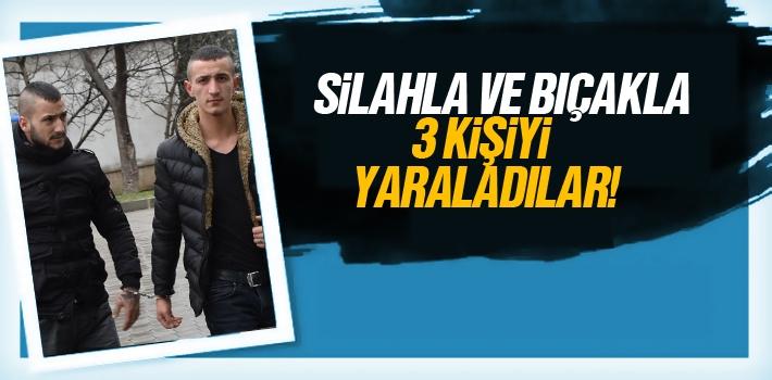 Samsun'da 3 Kişiyi Silahla ve Bıçakla Yaraladılar