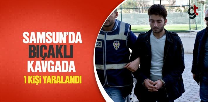 Samsun'da Bıçaklı Kavgada 1 Kişi Yaralandı