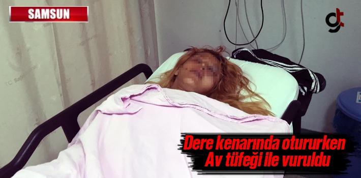 Samsun'da Bir Kadın Av Tüfeğiyle Yaralandı
