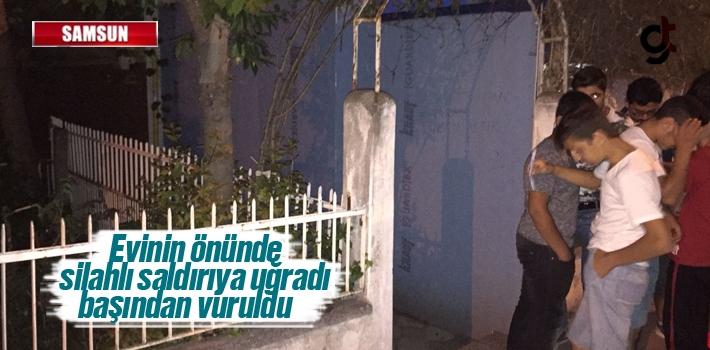 Samsun'da Bir Kişi Evinin Önünde Uğradığı Silahlı...