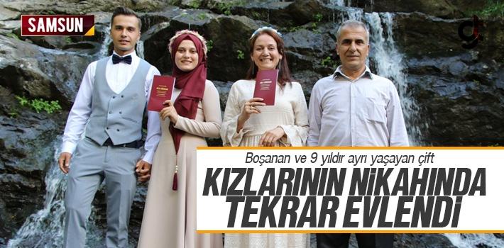 Samsun'da Boşanan Çift Kızlarının Nikahında...