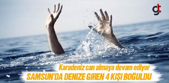 Samsun'da Denize Giren 4 Kişi Boğuldu