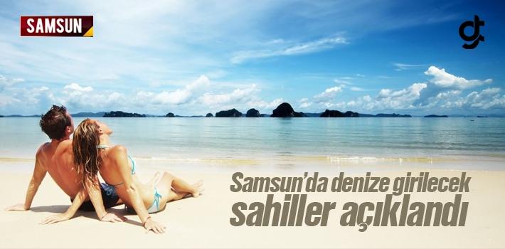 Samsun'da Denize Girilebilecek Temiz Sahiller Belli...