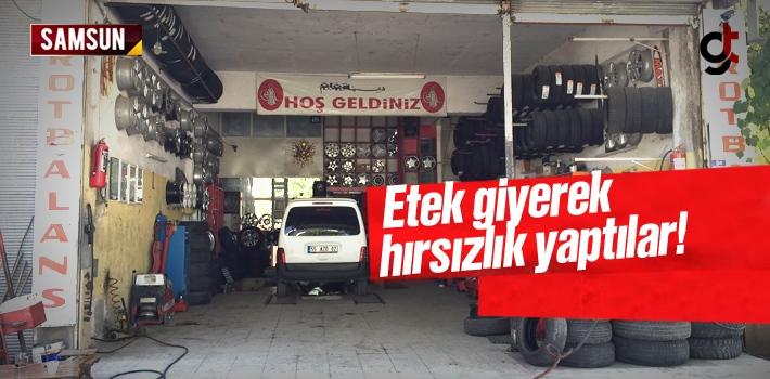 Samsun'da Etek Giyerek Hırsızlık Yaptılar