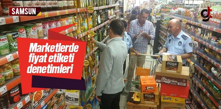 Samsun'da Etiket Fiyat Denetimleri Devam Ediyor