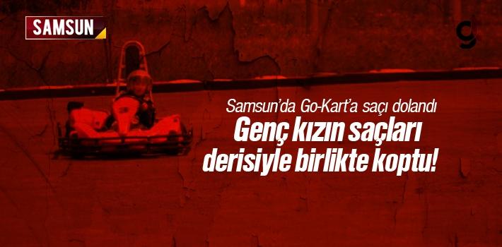 Samsun'da Go Kart Aracına Saçını Dolanınca Genç...