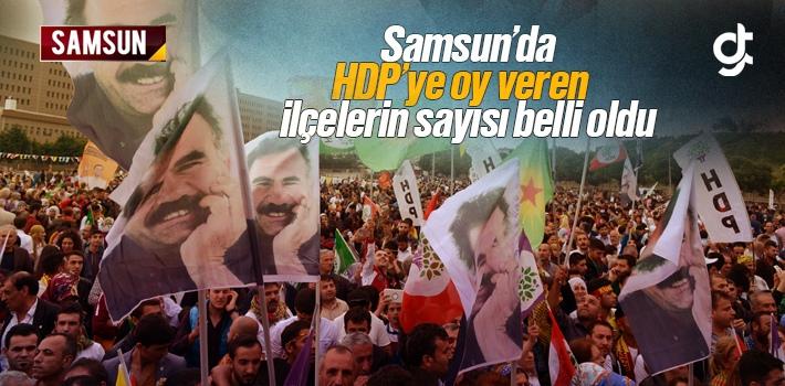 Samsun'da HDP'ye Oy Veren İlçelerin Sayısı...