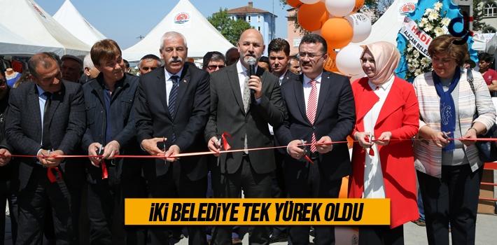 Samsun'da İki Belediye Tek Yürek Oldu