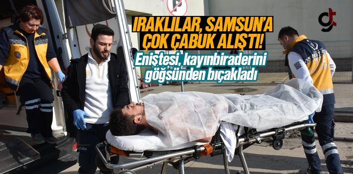 Samsun'da Iraklılar Bıçaklı Yaralama Olayına...