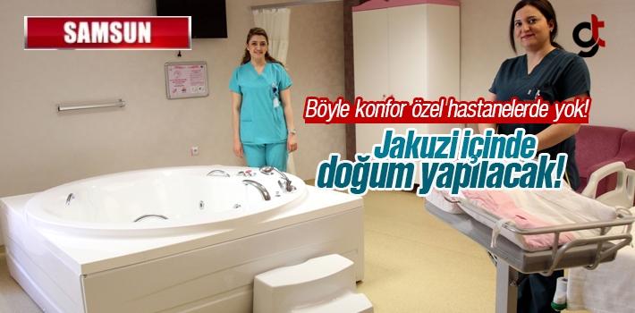 Samsun'da Jakuzi İçinde Suda Doğum Dönemi Başladı