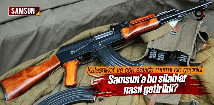 Samsun'da Kalaşnikof ve Çok Sayıda Mermi Ele Geçirildi...