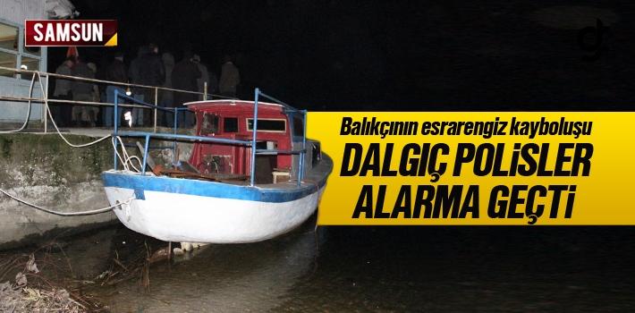Samsun'da Kaybolan Balıkçı İçin Polisler Alarma...