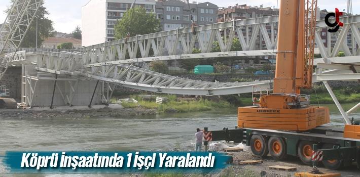 Samsun'da Köprü İnşaatında 1 İşçi Yaralandı