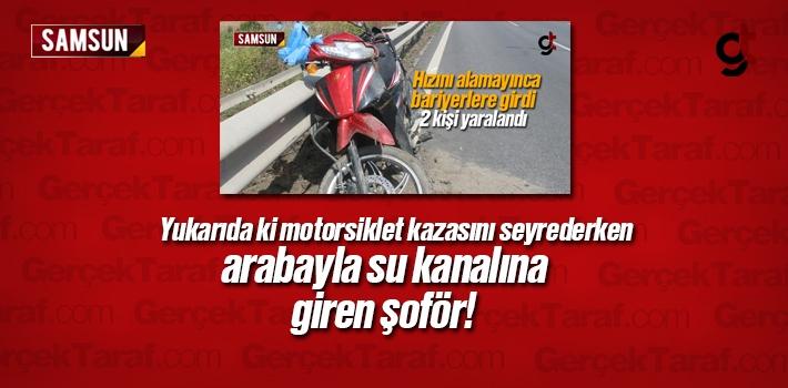 Samsun'da Motorsiklet Kazasını İzlerken Arabayla...