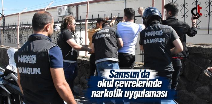 Samsun'da Okul Çevrelerinde Narkotik Uygulaması