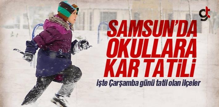 Samsun'da Okullar 9 Ocak Çarşamba Günü Tatil...