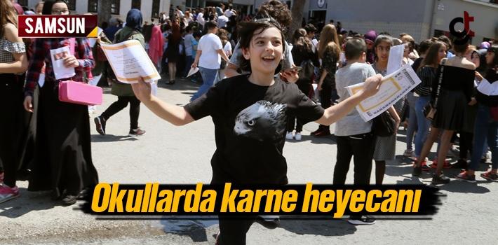 Samsun'da Okullarda Karne Heyecanı