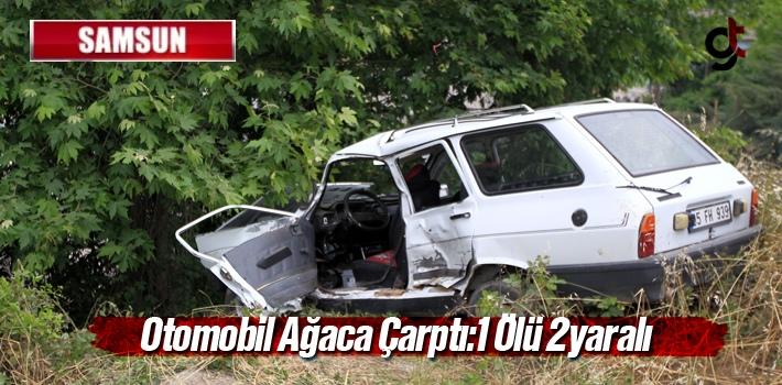 Samsun'da Otomobil Ağaca Çarptı:1 Ölü 2 yaralı
