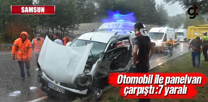 Samsun'da Otomobil İle Panelvan Çarpıştı:7 Yaralı