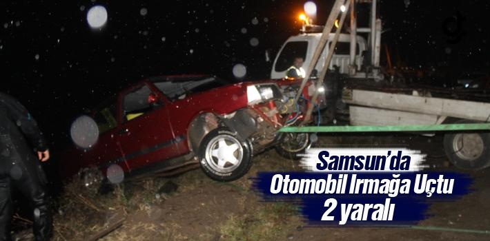 Samsun'da Otomobil Irmağa Uçtu:2 Yaralı
