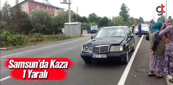 Samsun'da otomobilin çarptığı çocuk yaralandı.