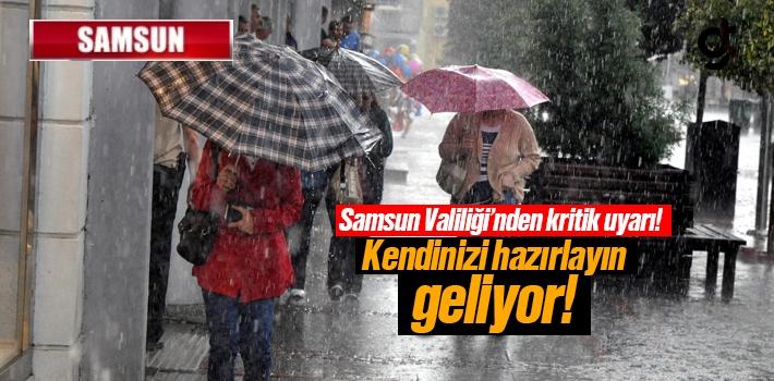 Samsun'da Sağanak Yağış Uyarısı - Samsun Hava...