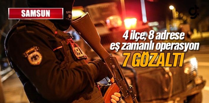 Samsun'da Silah Kaçakçılarına Eş Zamanlı Operasyon...