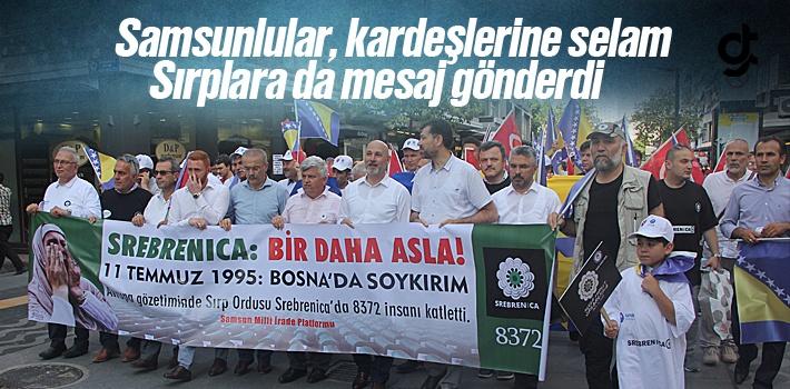 Samsun'da Srebrenitsa Soykırımı Yürüyüşü