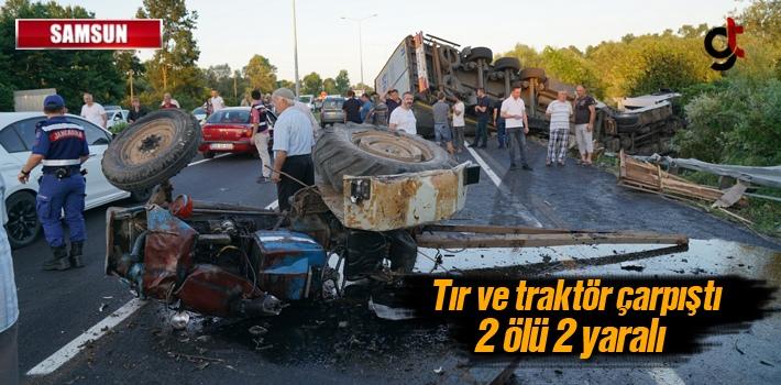 Samsun'da Tır Ve Traktör Çarpıştı: 2 Ölü,2...