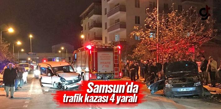 Samsun'da Trafik Kazası:4 Yaralı