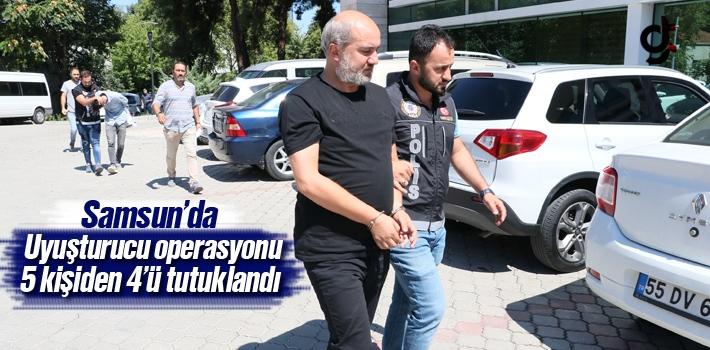 Samsun'da Uyuşturucu Operasyonu 5 Kişiden 4'ü Tutuklandı