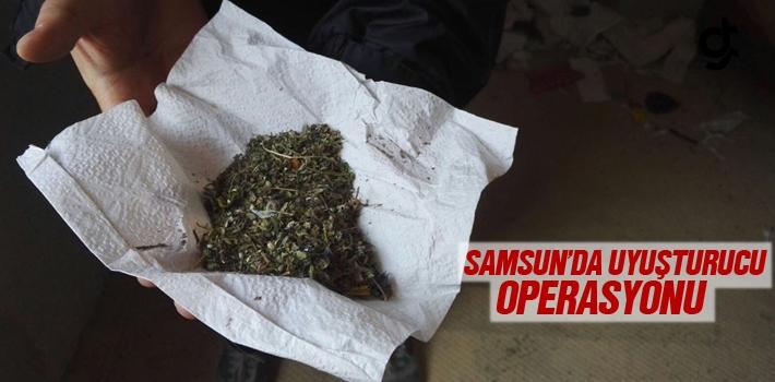 Samsun'da Uyuşturucu Operasyonu 10 Şüpheli Göz...