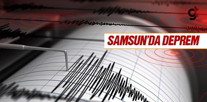 Samsun'da Vezirköprü Merkezli Deprem Oldu